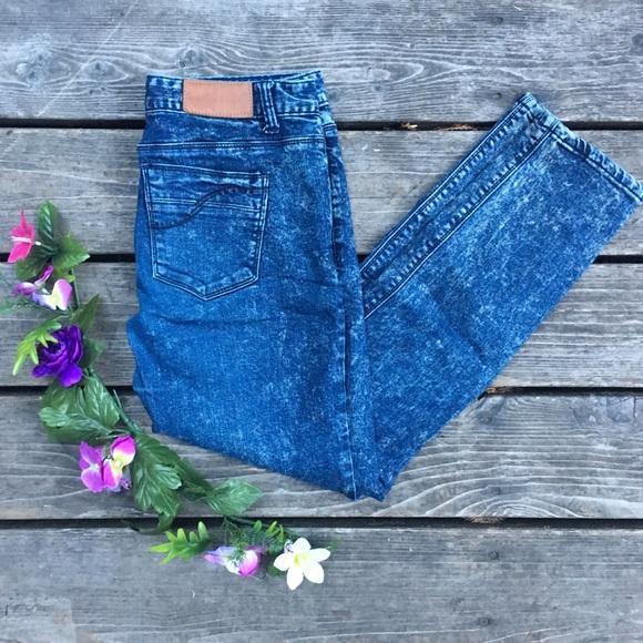 Staff Denim Acid Wash Skinny Jeans